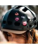 Sticker rétro-réfléchissant pour casques de vélo femme